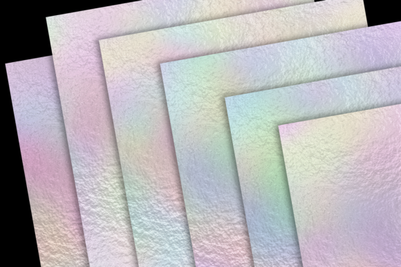Print on Demand: Pastel Rainbow Foils Graphic Textures By JulieCampbellDesigns - Image 2