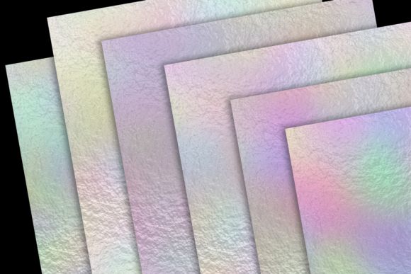 Print on Demand: Pastel Rainbow Foils Graphic Textures By JulieCampbellDesigns - Image 3
