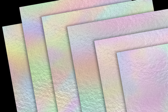 Print on Demand: Pastel Rainbow Foils Graphic Textures By JulieCampbellDesigns - Image 4