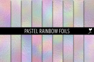 Print on Demand: Pastel Rainbow Foils Graphic Textures By JulieCampbellDesigns 1