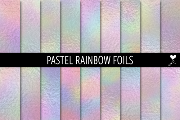Print on Demand: Pastel Rainbow Foils Graphic Textures By JulieCampbellDesigns