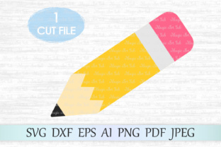 Download Free Pencil Graphic By Magicartlab Creative Fabrica for Cricut Explore, Silhouette and other cutting machines.