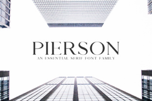 Pierson an Essensial Family Serif Font By Creative Tacos