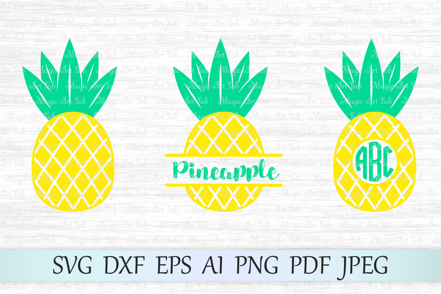 Download Free Pineapple Graphic By Magicartlab Creative Fabrica for Cricut Explore, Silhouette and other cutting machines.