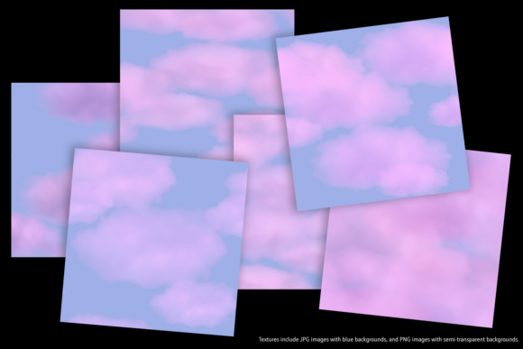 Print on Demand: Pink Clouds Graphic Textures By JulieCampbellDesigns - Image 2