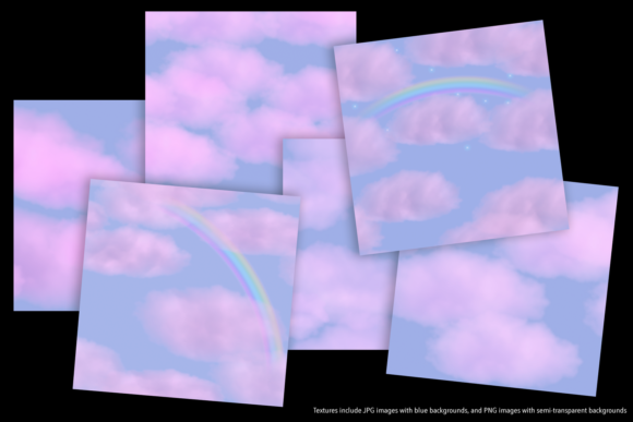 Print on Demand: Pink Clouds Graphic Textures By JulieCampbellDesigns - Image 3