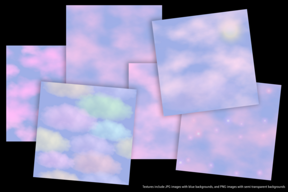 Print on Demand: Pink Clouds Graphic Textures By JulieCampbellDesigns - Image 4