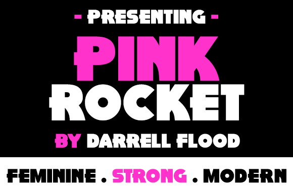 Print on Demand: Pink Rocket Display Font By Dadiomouse