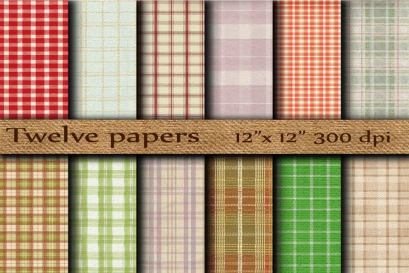 Plaid Digital Paper Graphic Backgrounds By twelvepapers