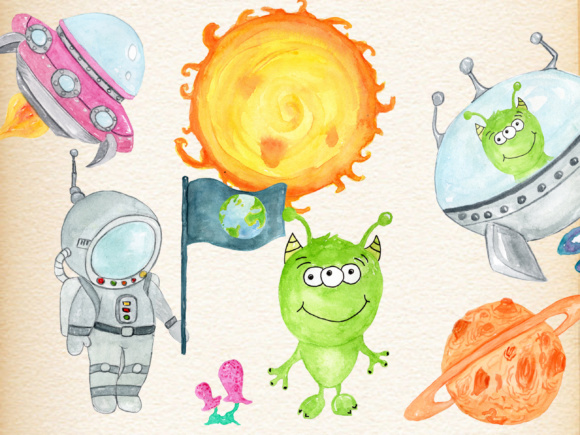 Planets Clipart Graphic Illustrations By vivastarkids - Image 2