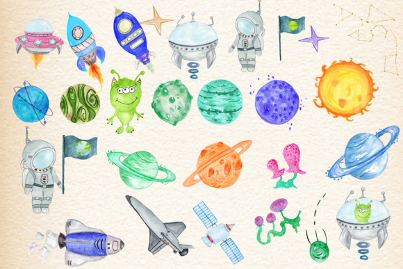 Planets Clipart Graphic Illustrations By vivastarkids - Image 3