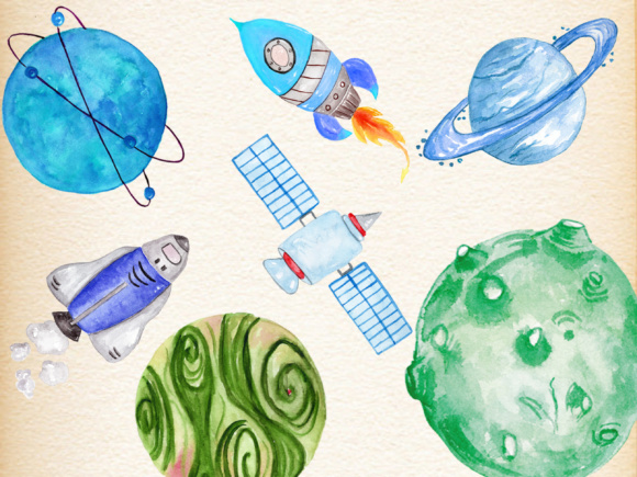 Planets Clipart Graphic Illustrations By vivastarkids - Image 4