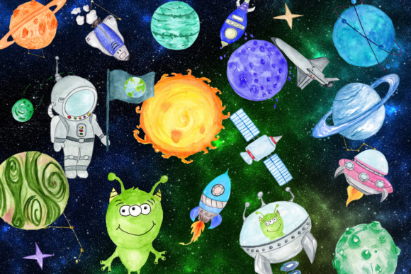 Planets Clipart Graphic Illustrations By vivastarkids