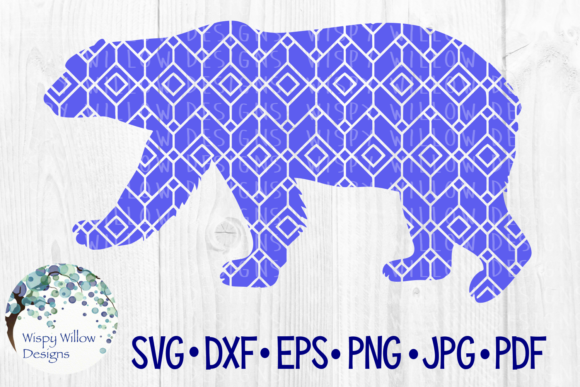 Download Free Polar Bear Geometric Pattern Graphic By Wispywillowdesigns SVG Cut Files