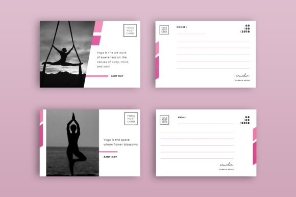 Postcard Template Graphic Print Templates By TMint
