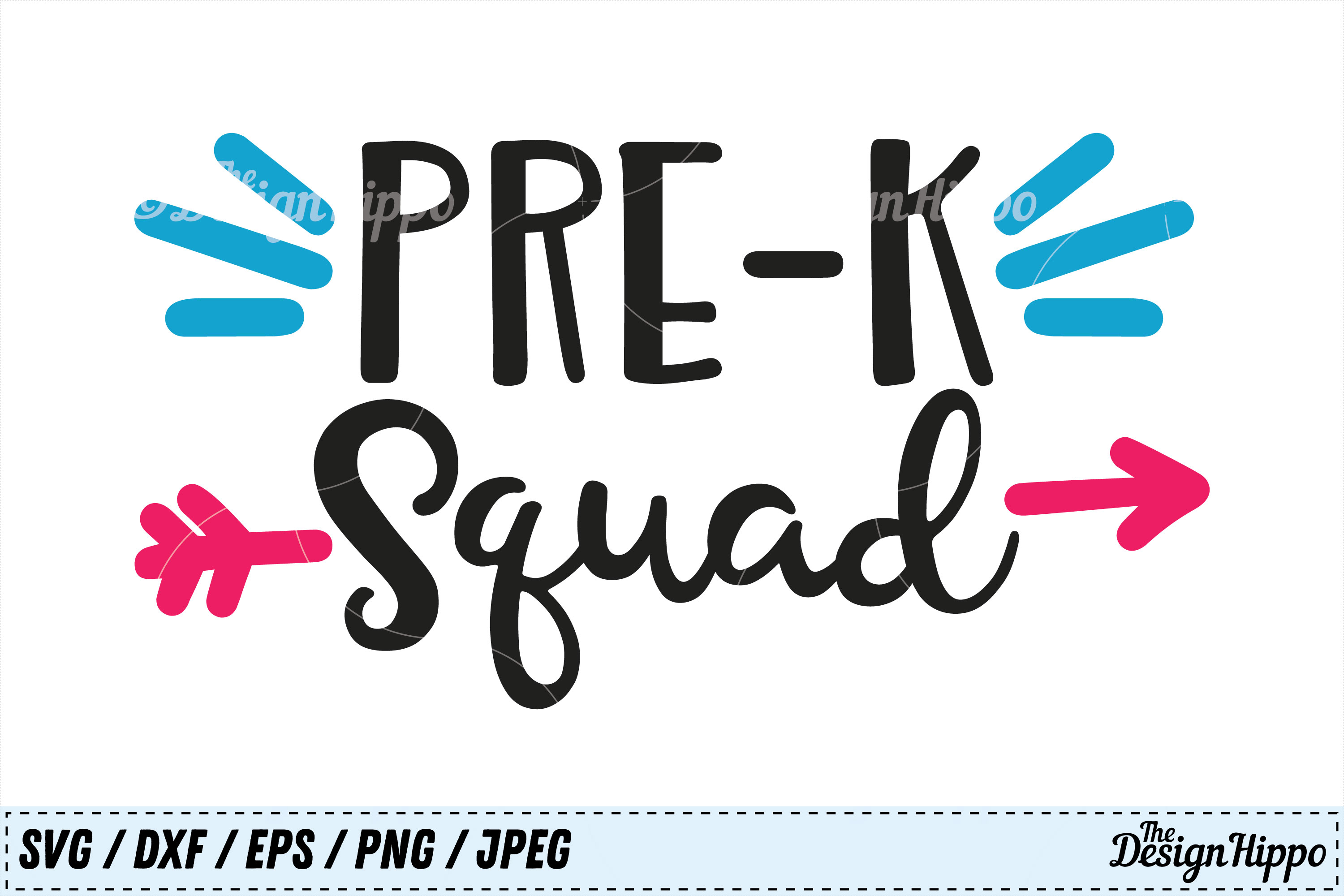 Download Free Pre K Squad Svg Graphic By Thedesignhippo Creative Fabrica for Cricut Explore, Silhouette and other cutting machines.