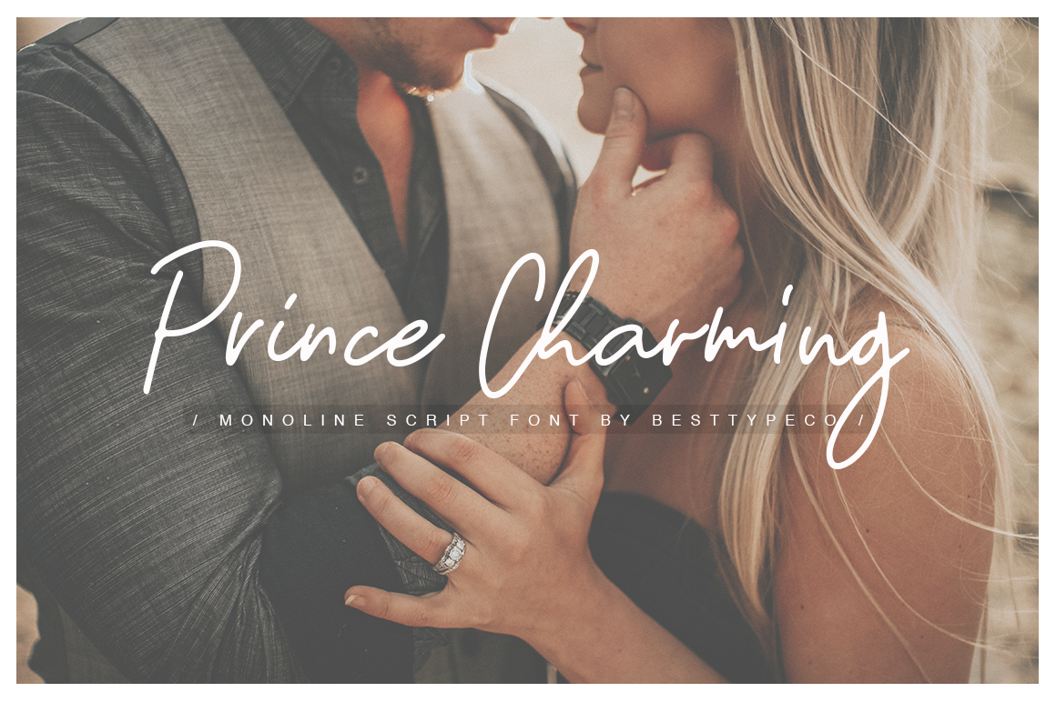 Download Free Prince Charming Font By Besttypeco Creative Fabrica for Cricut Explore, Silhouette and other cutting machines.
