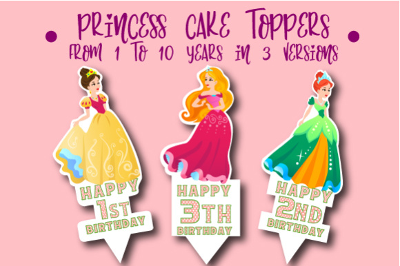 Download Free Princes Cake Toppers Svg Cut File By Creative Fabrica Crafts Creative Fabrica for Cricut Explore, Silhouette and other cutting machines.