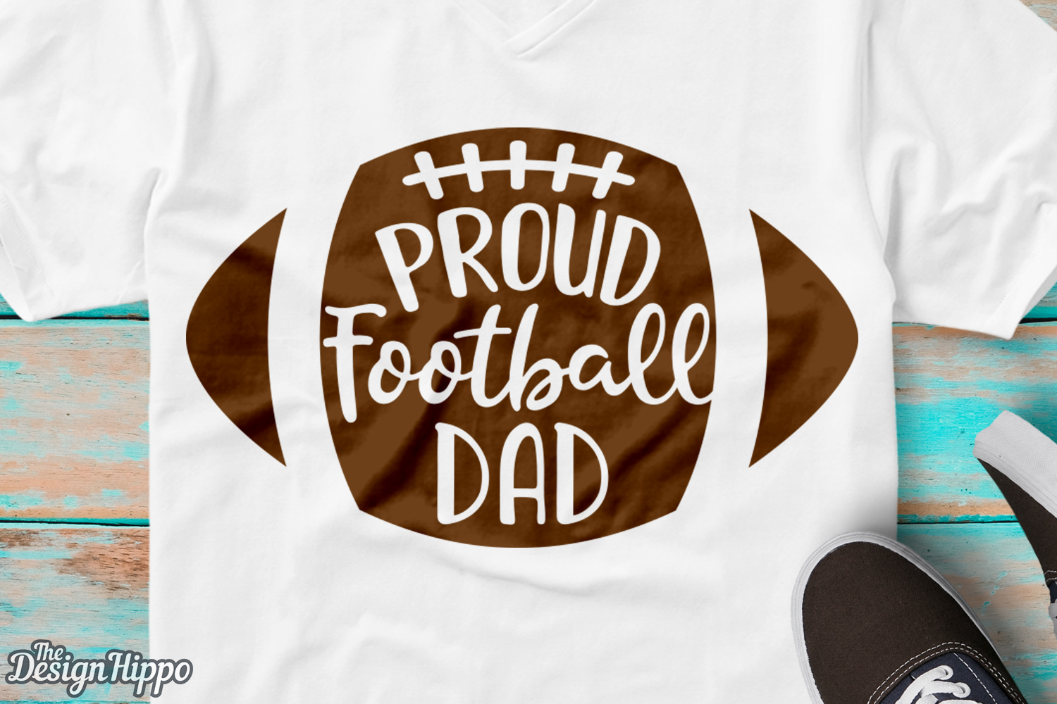 Proud Football Dad Svg Graphic By Thedesignhippo Creative Fabrica