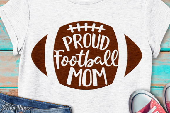 Proud Football Mom SVG Graphic Crafts By thedesignhippo
