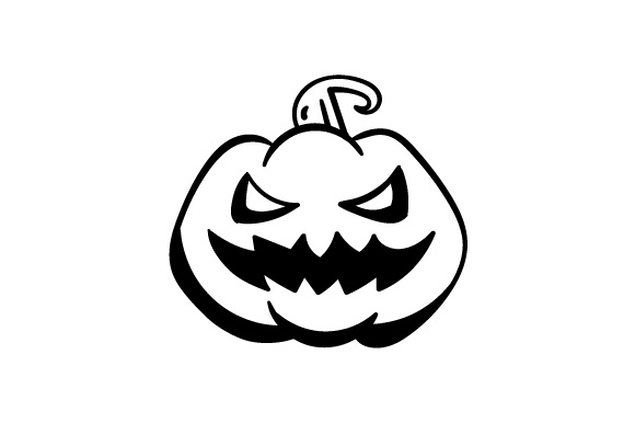 Pumpkin With A Scary Face Svg Cut File By Creative Fabrica