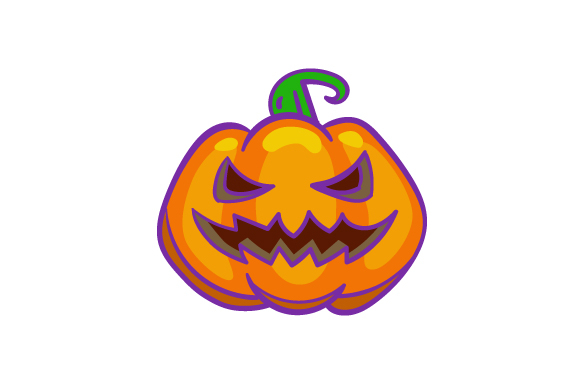 Pumpkin With A Scary Face Svg Cut File By Creative Fabrica Crafts Creative Fabrica