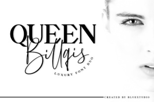 Queen Billqis Duo Script & Handwritten Font By Bluestudio