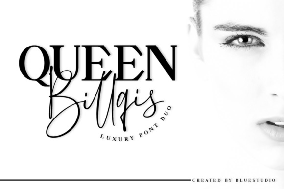 Print on Demand: Queen Billqis Duo Script & Handwritten Font By Bluestudio