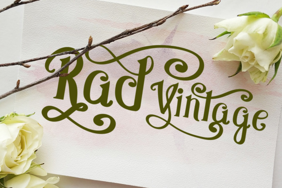 Print on Demand: Rad Vintage Script & Handwritten Font By Lickable Pixels