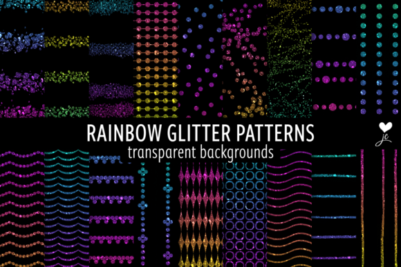 Print on Demand: Rainbow Glitter Patterns Graphic Textures By JulieCampbellDesigns