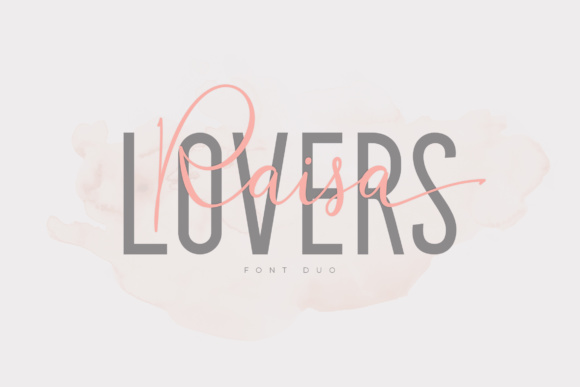 Print on Demand: Raisa Lovers Duo Script & Handwritten Font By Aqr Typeface