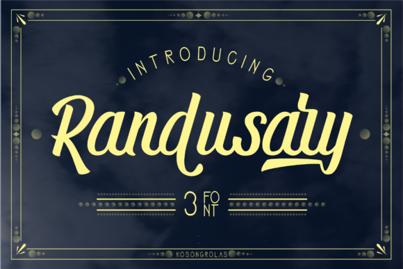 Print on Demand: Randusary Script & Handwritten Font By mrkhoir012