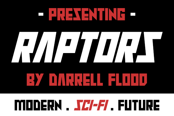 Print on Demand: Raptors Display Font By Dadiomouse