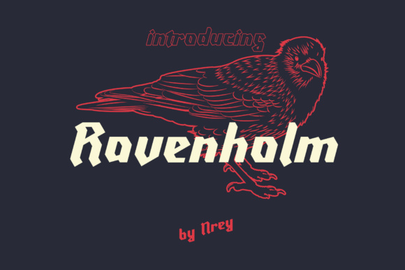 Print on Demand: Ravenholm Slant Blackletter Font By NREY