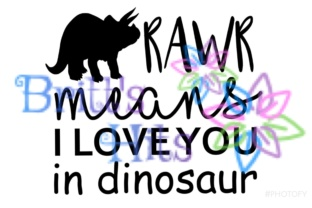 Download Free Rawr Means I Love You In Dinosaur Svg Graphic By Britt S Hits for Cricut Explore, Silhouette and other cutting machines.