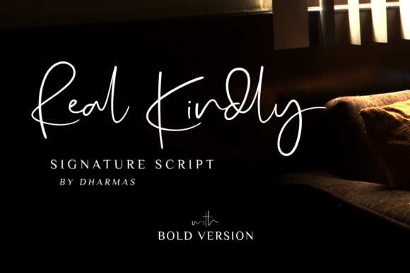 Print on Demand: Real Kindly Script & Handwritten Font By dharmas