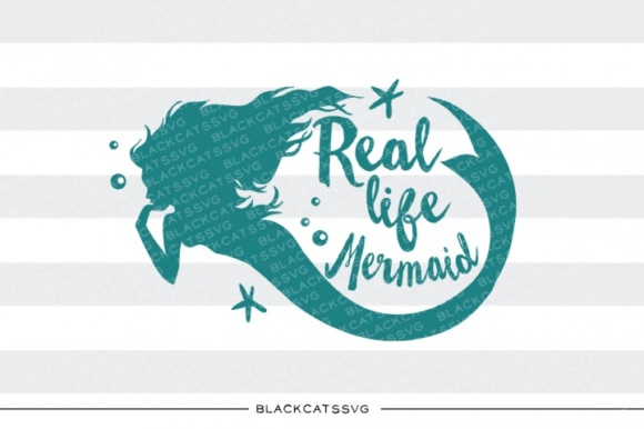 Real Life Mermaid Graphic Crafts By BlackCatsMedia