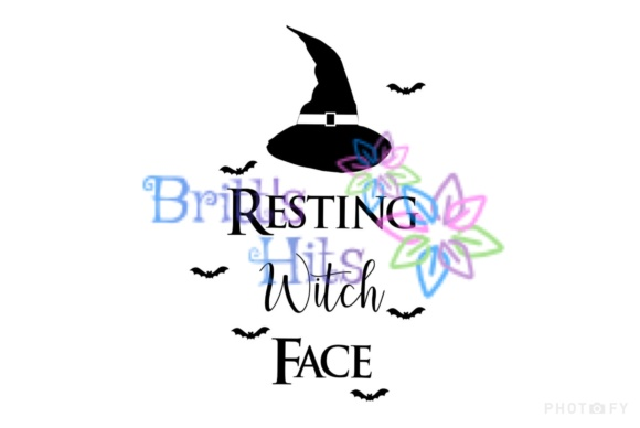 Resting Witch Face Svg Graphic By Britt S Hits Creative Fabrica