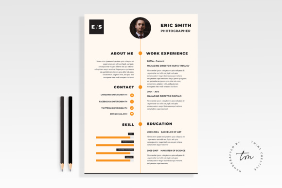 Resume / CV Template Graphic Print Templates By TMint