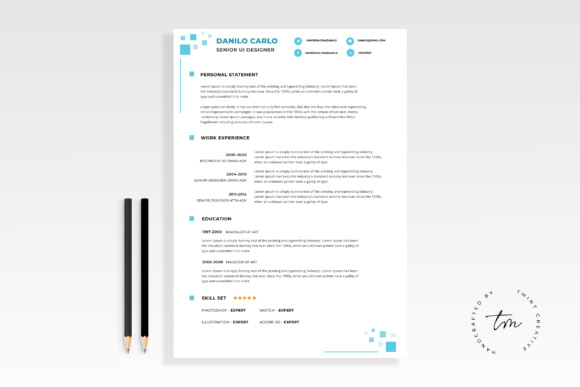 Resume / CV Graphic Print Templates By TMint - Image 1