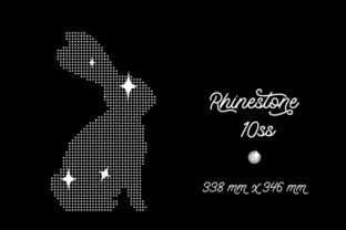 Rhinestone Template Bunny Design 338x346 Mm 10ss Craft Design By Creative Fabrica Crafts