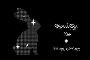 Rhinestone Template Bunny Design 338x346 Mm 4ss Craft Design By Creative Fabrica Crafts