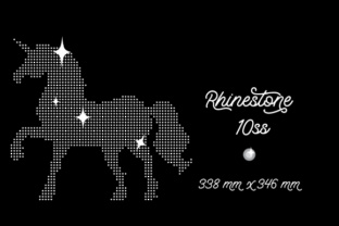 Rhinestone Template Unicorn Design 338x346 Mm 10ss Craft Design By Creative Fabrica Crafts