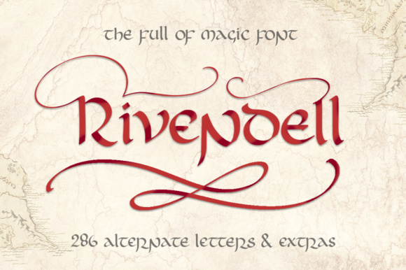 Print on Demand: Rivendell Blackletter Font By Red Ink