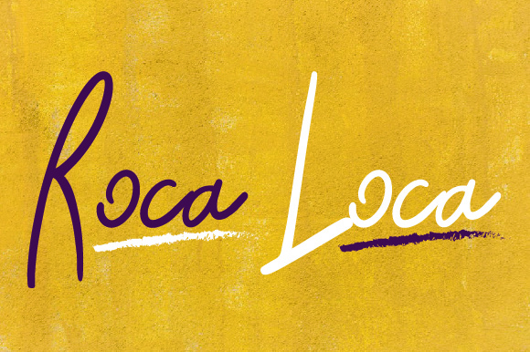 Print on Demand: Roca Loca Script & Handwritten Font By rzhephlex