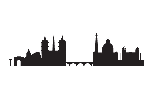 Download Free Rome City Skyline Svg Cut File By Creative Fabrica Crafts for Cricut Explore, Silhouette and other cutting machines.