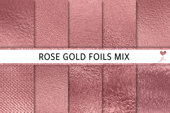 Download Free Rose Gold Foils Mix Graphic By Juliecampbelldesigns Creative for Cricut Explore, Silhouette and other cutting machines.