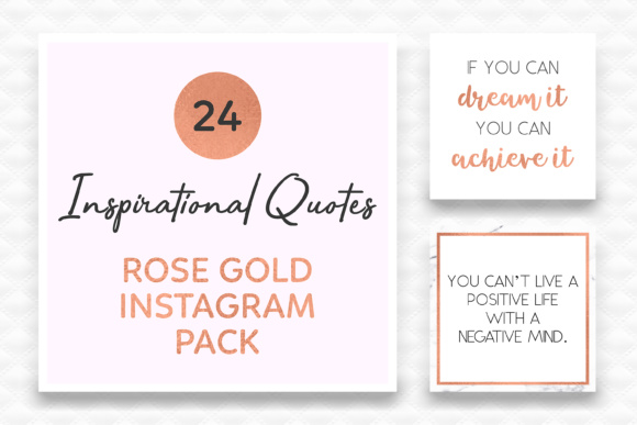 Rose Gold Instagram Quotes Social Media Quotes Graphic By Kelly