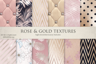 Rose, Gold, Navy Blue, Flowers & Luxury Textures Graphic By artisssticcc