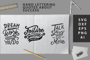SVG Cut File - Hand Lettering Quotes About Success Graphic By Weape Design